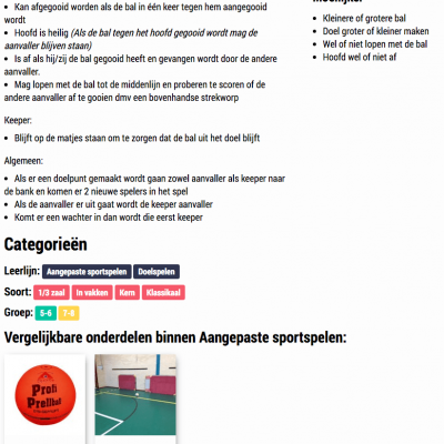 Gymspiratie - Regels & Differentiatie