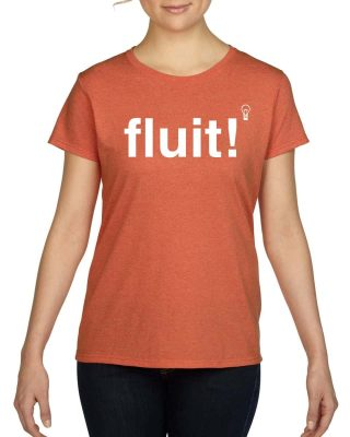Fluit! Dames t-shirt Oranje - Gymspiratie