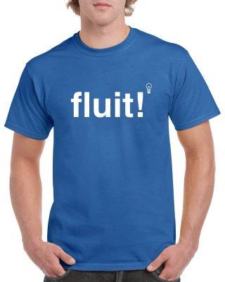 Fluit! Heren t-shirt Blauw - Gymspiratie