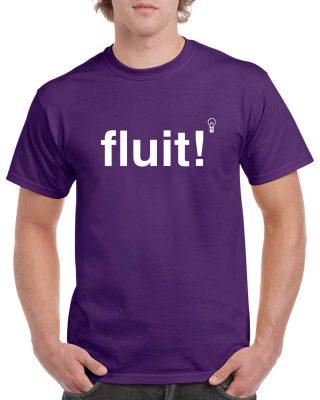 Fluit! Heren t-shirt Paars - Gymspiratie