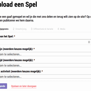 Upload een spel