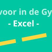 Apps voor in de Gymzaal: Excel
