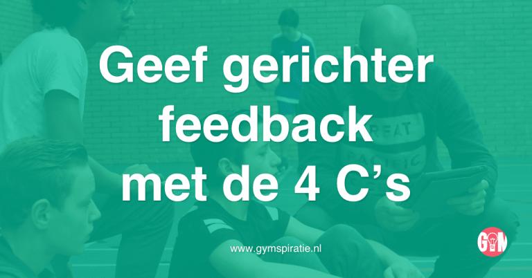 Geef gericht feedback met de 4 C's
