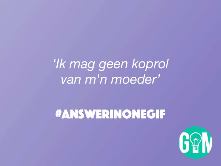 Answer in One GIF: Koprol