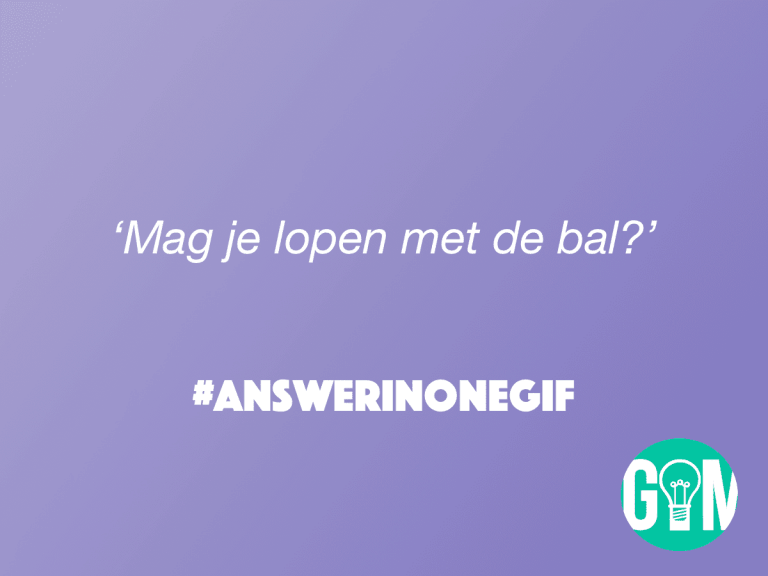 Answer in One GIF: Lopen met de bal