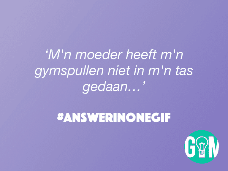 Answer in One GIF: Gymspullen