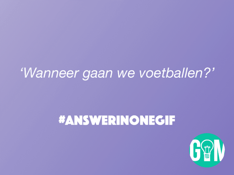 Answer in One GIF: Voetballen