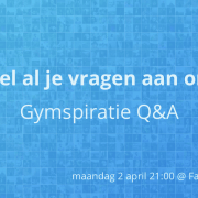 Facebook Q&A: Stel al je gymvragen aan ons!