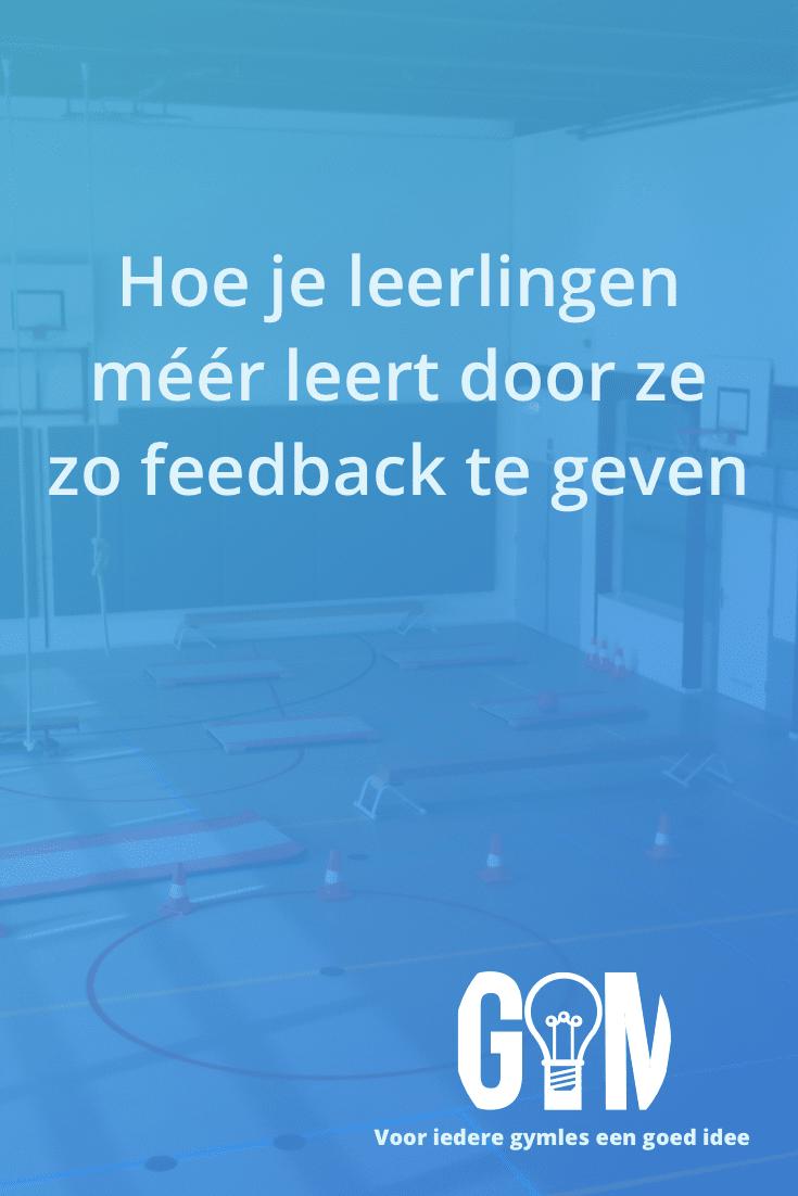 Wil je meer uit je leerlingen halen? Geef dan ook eens op deze wijze feedback; het zorgt er voor dat leerlingen zich bewuster zijn van het aan te leren onderdeel!