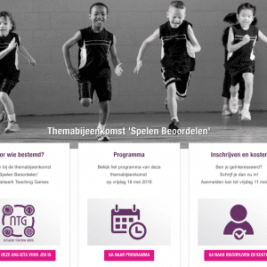 Ga gratis naar de themabijeenkomst 'Spelen Beoordelen' van Netwerk Teaching Games