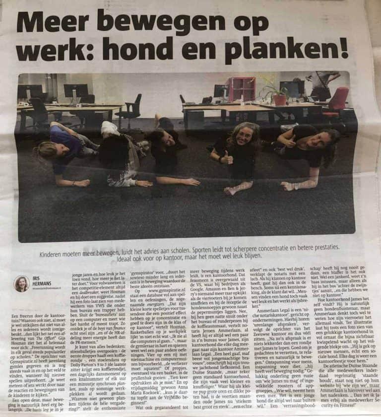 Meer bewegen op kantoor: Interview met Metro Holland
