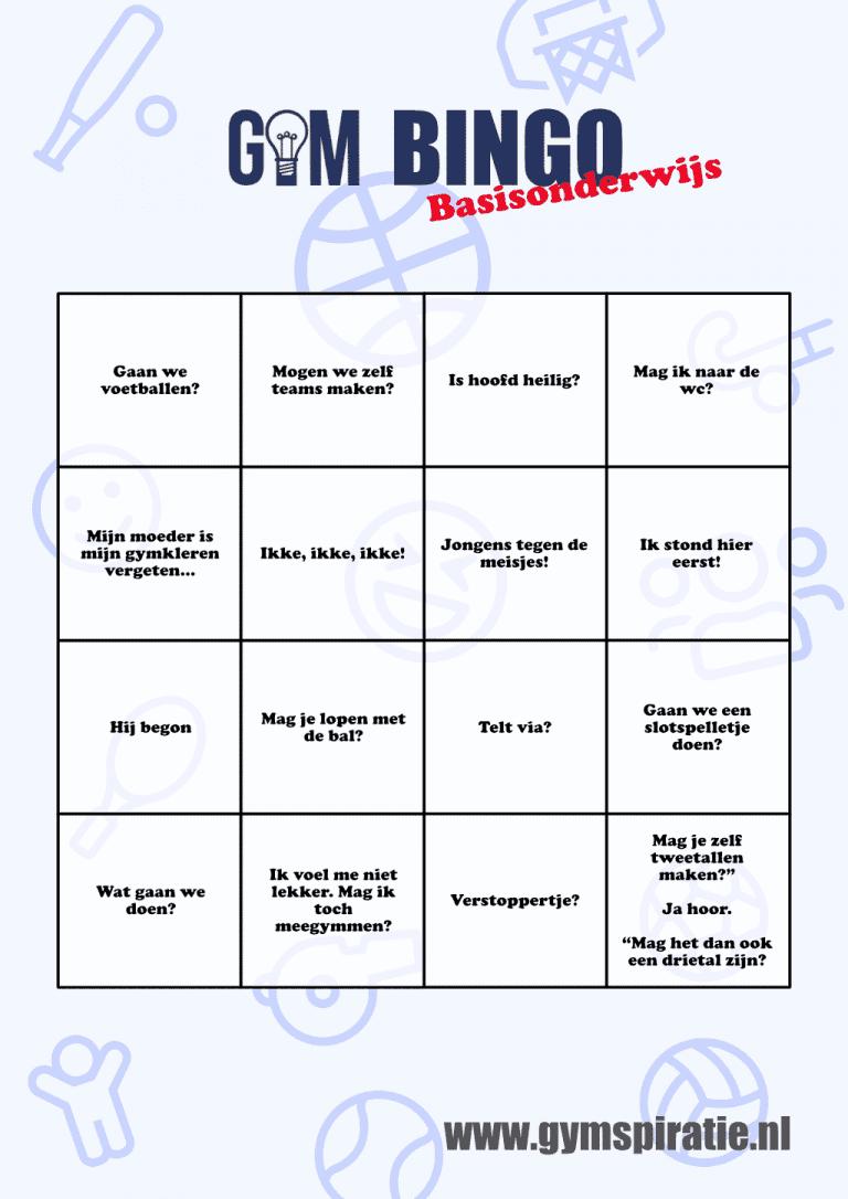 Gym Bingo: Wie heeft als eerste zijn bingokaart vol?!