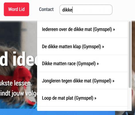 Live Search - Gymspiratie