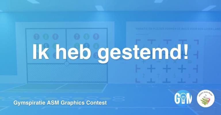 Stem nu op jouw favoriete Gymspiratie ASM Graphics Contest inzending