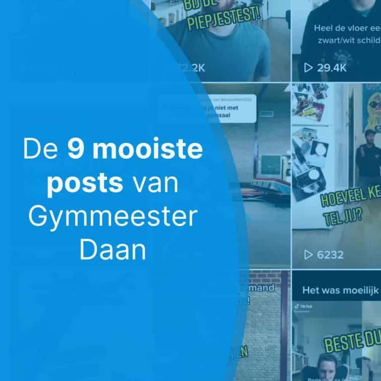 De 9 mooiste posts van Gymmeester Daan