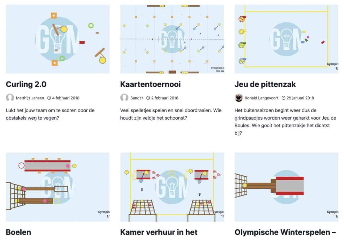 Gymspiratie - Nieuwe layout